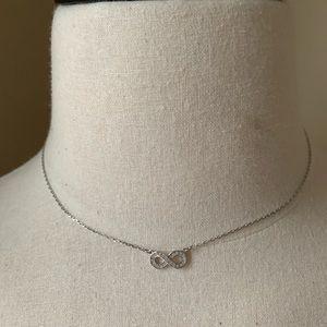 Swarovski Jewelry - Swarovski infinity silver necklace